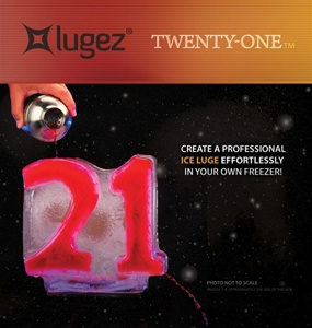 21 Ice Luge Mold by Lugez - One & Only 21 Ice Luge Mold!  A must have if you are into having a lot of fun.