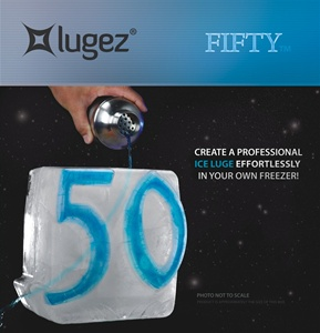 50 Ice Luge Mold by Lugez - One & Only 30 Ice Luge Mold!  A must have if you are into having a lot of fun.