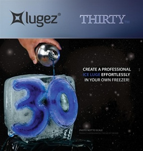 30 Ice Luge Mold by Lugez - One & Only 30 Ice Luge Mold!  A must have if you are into having a lot of fun.