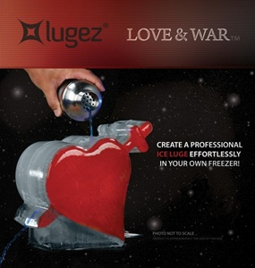 Love & War Ice Luge Mold by Lugez - One & Only Heart n Sword Ice Luge Mold!  So many uses for this beautiful Ice Luge.