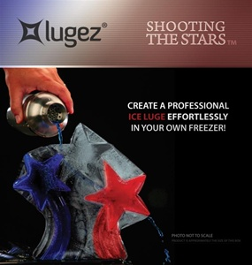 Shooting Stars Ice Luge Mold by Lugez - One & Only Shooting Stars Ice Luge Mold!  So many uses for this beautiful Ice Luge.